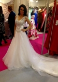 bridal models hire Olympia London at National Wedding Show