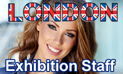 London exhibition staff